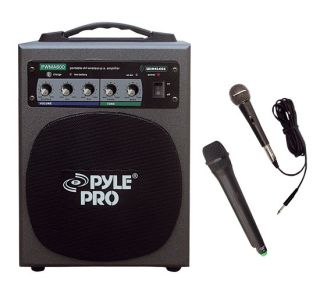 Portable Wireless Battery Powered PA Speaker Mic System