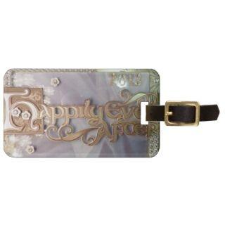 Fairy tale wedding luggage tag