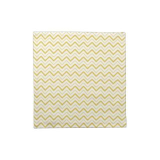 Yellow chevron zigzag stripes zig zag pattern cloth napkins