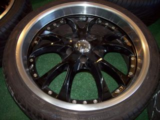 20 Black Wheels Nissan Lexus Infiniti Maxima Altima ES350 ES300 ES400