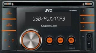 JVC KW XR416D Double DIN CD  WMA USB Car Stereo Player
