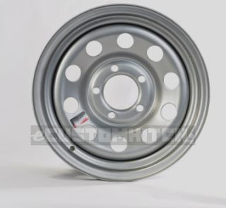 Trailer Rim Wheel 15 15x6 5 Lug Hole Bolt Wheel Silver Modular