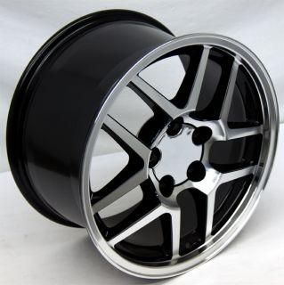 Black Corvette Z06 Wheels 17x9 5 ZO6 Camaro Rims 17 inch C4 C5