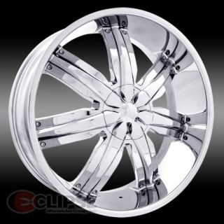 CHROME MASSIV 916 VENEZO WHEEL RIMS 5 LUG FRONT WHEEL DRIVE CARS ET38