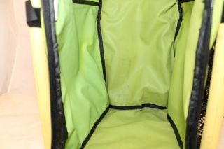 ZUCA YELLOW / GREEN FRAME AND INSERT BAG PRE OWNED TRAVEL CASE LUGGAGE