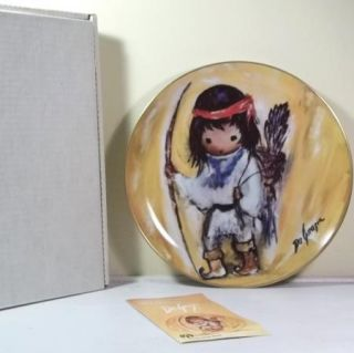 DeGrazia My First Arrow Children at Play Series Collector Plate 1989