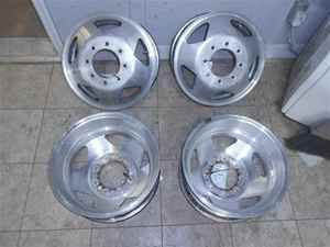 99 04 Ford F350 SD 16x6 Forged Aluminum Dually Wheels