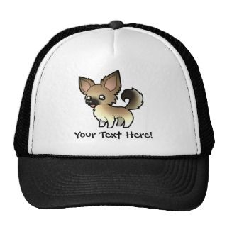 Cartoon Chihuahua (fawn sable long coat) hats by SugarVsSpice