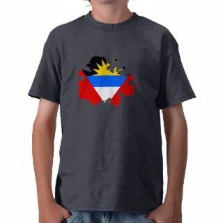 Antigua flag map t shirts