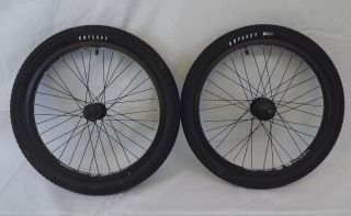 New Alienation BMX Wheel Set Wheels Odyssey Tires 9 Tooth Sprocket BMX