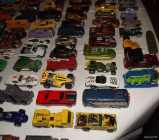 Vintage Lot of 115+ Diecast Toy Cars Trucks Vans Hotwheels Matchbox