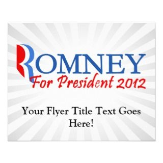 Mitt Romney For President 2012 Flyer Design