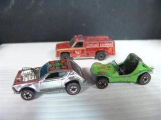 Lot of 3 Original Hot Wheels Redlines Dune Daddy Gremlin Grinder