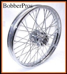 16 21 inch 40 Spoke Chrome Wheels Rims Harley Bobber
