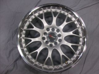 5x100 5x114 3 5 100 5 114 3 Dr 19 Silver Machined Wheels Rims