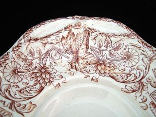 RARE Large Aesthetic Staffordshire Fish Platter Songbirds 1883