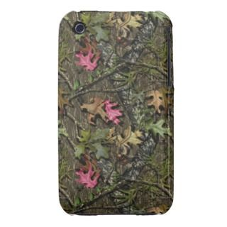 Ladies Pink Camo iPhone Cover Case Mate iPhone 3 Cases