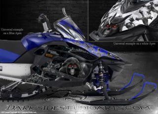 Yamaha Apex 2006 2010 Snowmobile Black Hood Graphics Inevitable Death