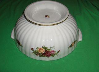Vintage 1962 Royal Albert Bone China Old Country Roses Flut Serving