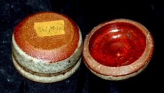 Warren Mackenzie Studio Pottery Carved Covered Box Jar