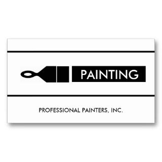 Business Cards, 326 Painting Contractor Business Card Templates