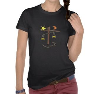 Scales of Justice Cross Tee Shirt