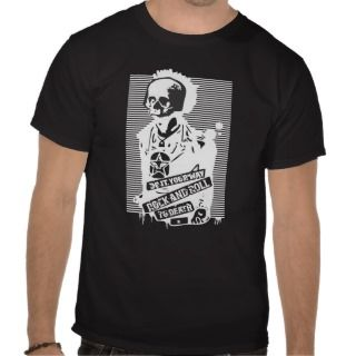 rock and roll to death black tshirt