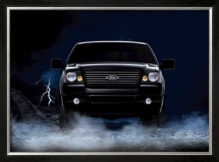 2007 Ford F 150 Super Crew Framed Giclee Print