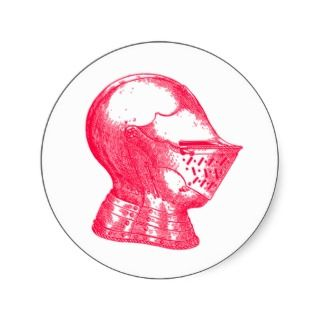 Pink Knight Medieval Armor Helmet Knights Stickers