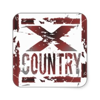 XC Cross Country Runner Stickers