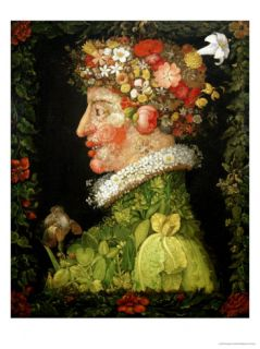 Spring, from a Series Depicting the Four Seasons, 1573 Giclee Print by Giuseppe Arcimboldo