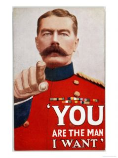 Kitchener Poster Recruitment Poster Featuring Kitchener You are the Man I Want Giclee Print