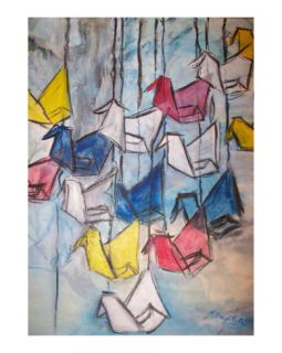 Origami for Peace Giclee Print by Michelina Croteau