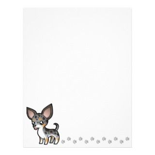 Cartoon Chihuahua (merle tricolor smooth coat) Customized Letterhead