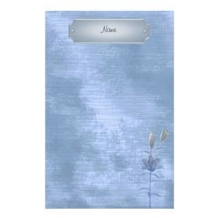 Stationery Soft Blue White Floral