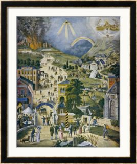 The Broad and Narrow Way, the Narrow Road to Heaven Contrasted with the Broad Way to Hell Framed Giclee Print
