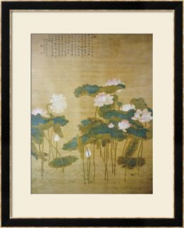 Lotus Pond, 1726 Framed Giclee Print