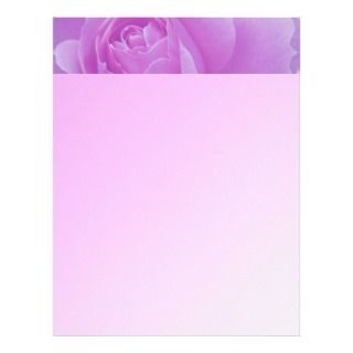 purple rose, romantic, love letterhead template