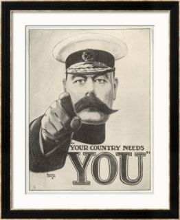 Your Country Needs You, Featuring Lord Kitchener Framed Giclee Print