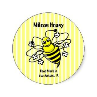 Honey Bee Honey Label Sticker
