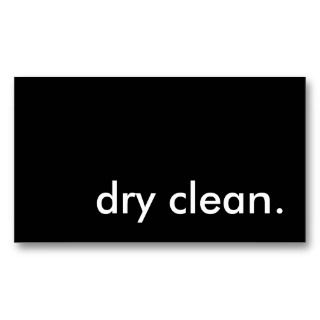 dry clean. business card