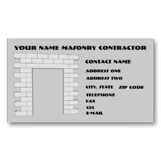 masonry contractor business card separate your business the rest