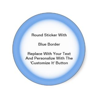 Circular Stickers With A Blue Border In Sheets