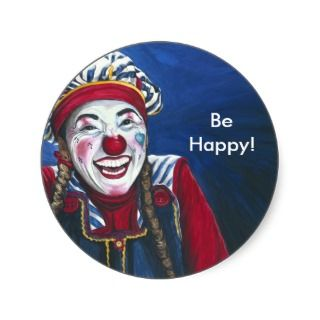 Giggles the Clown Painting Sticker