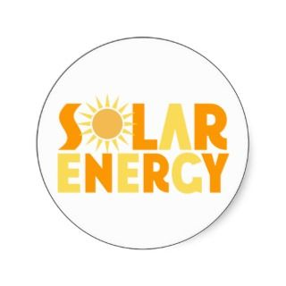 Solar Energy Gift T shirt Sticker