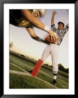 Football Player Scoring a Touchdown With a Referee in The Background Pre made Frame