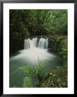 Rain forest waterfall, Costa Rica Pre made Frame