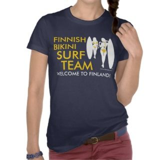 Finnish Bikini Surf Team (dark) T Shirt