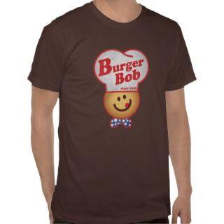 Retro Burger Joint   Burger Bob Vintage T shirt