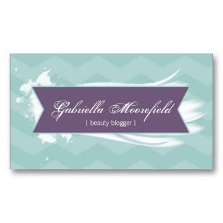 Beauty Blogger Purple Contact Business Cards